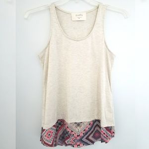 Puella Heathered Tank Top with Tribal Print